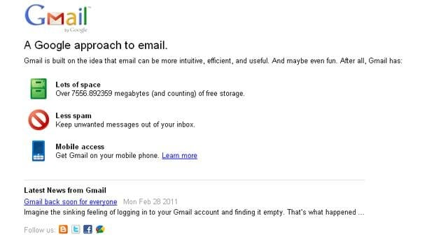 Email sent to affected users between 9 p.m. ET Sunday and 5 p.m. ET Monday was likely not delivered, Google said.