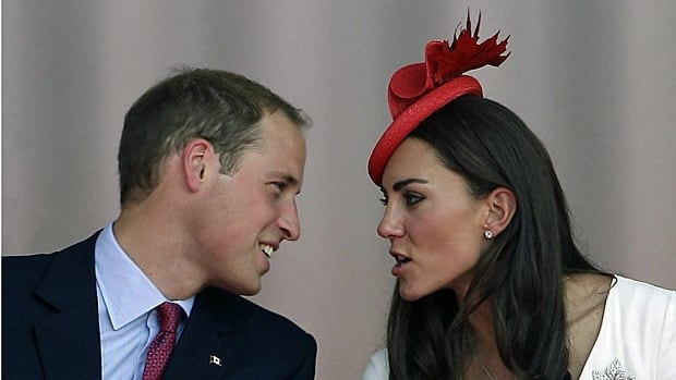 Prince William and Kate talk during the Canada Day celebration on Parliament Hill in Ottawa on July 1, 2011.
