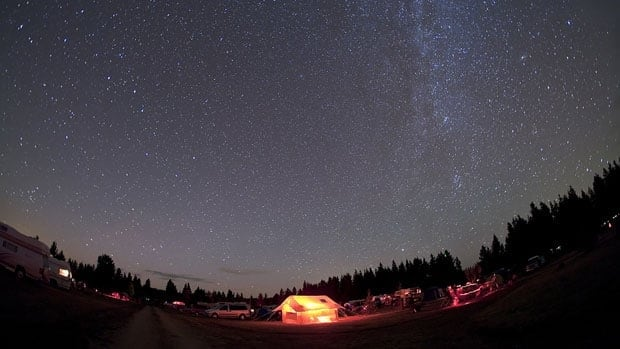 Views of the night sky like this one are the reason astronomy buffs flock to Cypress Hills Interprovincial Park.