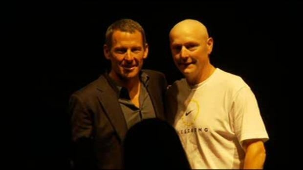 Steven MacDonald met Lance Armstrong at a benefit Friday night.