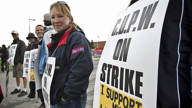Striking postal workers in urban centres will deliver letters only three days a week: Monday, Wednesday, and Friday.