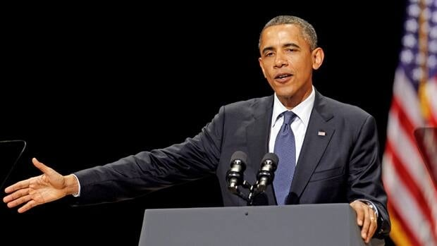 "U.S. president Barack Obama, shown speaking at a Miami fundraiser Monday, said Tuesday he expected American lawmakers will reach agreement on how to increase the debt limit ""in a sensible way."""