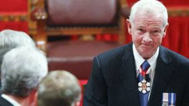 Gov. Gen. David Johnston smiles after signing the oath of office at the installation ceremony of the 28th Governor General of Canada on Parliament Hill on Friday.