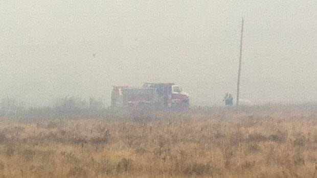 Firefighters have been working non-stop through the night to keep a handle on the grass fire near Stuartburn.