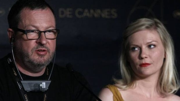 Director Lars Von Trier, left, delivered a rambling joke about being a Nazi at a Cannes press conference on Wednesday as actor Kirsten Dunst looked askance at him. He has since apologized.