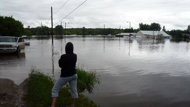 This was the scene in Roche Percee when floodwaters struck in June.