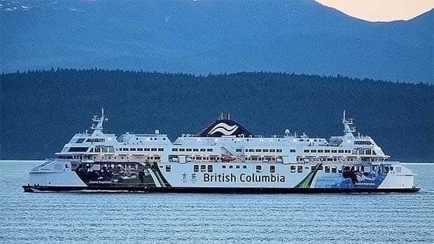 The BC Ferries vessel Coastal Celebration.