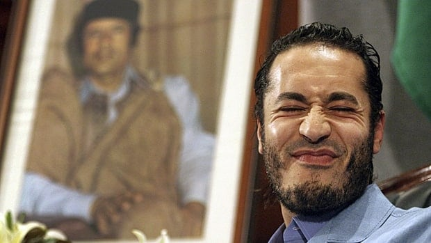 Interpol says its notice was based on accusations that Al-Saadi Gadhafi, 38, misappropriated property and engaged in 'armed intimidation.'