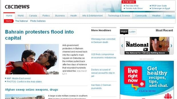 A new look for CBCNews.ca.