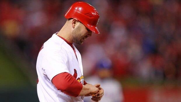 Matt Holliday has a sprained right wrist.