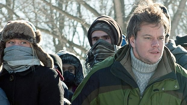 Matt Damon in a scene from the film Contagion, which was filmed at the main campus of the U.S. Centers for Disease Control and Prevention.