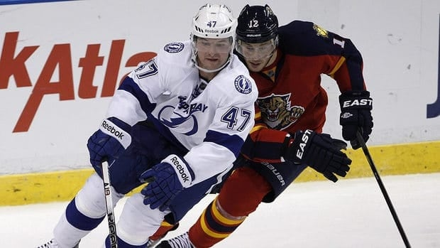 Tampa Bay is struggling, but Marc-Andre Bergeron, left, has piled up some power-play points early on.