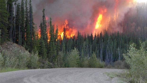 This fire in northwestern B.C., which is now out, was one of a relatively small number so far this summer.
