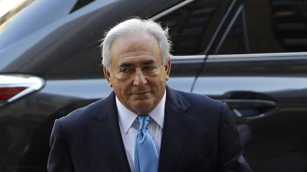 Former IMF chief Dominique Strauss-Kahn arrives for a hearing at the New York State Supreme Courthouse in New York on July 1, 2011. A French writer, Tristane Banon, is expected to file a new complaint on Tuesday.