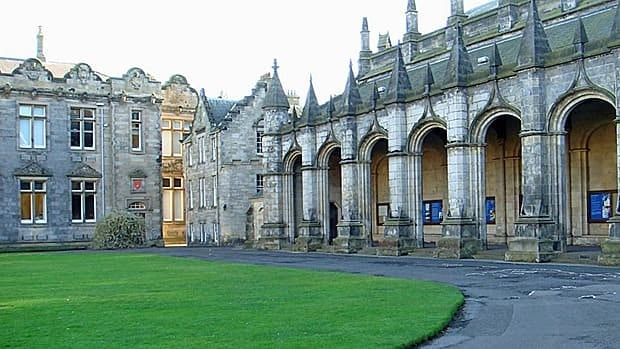 St. Salvador's Quad, St. Andrews University, St. Andrews, Scotland.  The university is offering a new program aimed at North American students.