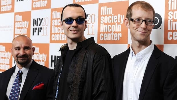 The trio known as the West Memphis Three (from left: Jessie Misskelley Jr., Damien Echols and Jason Baldwin) attend a special screening of Paradise Lost 3: Purgatory during New York Film Festival in New York on Monday.