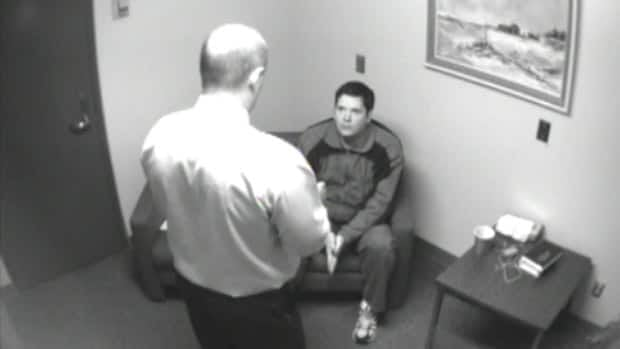 Det. Bill Clark interrogates murderer Mark Twitchell on Oct. 20, 2008. Clark was not happy when he learned about a website promoting Twitchell's blog and artwork.
