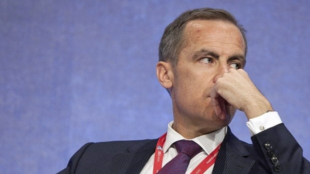 Bank of Canada governor Mark Carney listens at the annual meeting of the Inter-American Development Bank in Calgary Saturday.