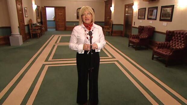 Yvonne Jones speaks Wednesday with reporters in St. John's.