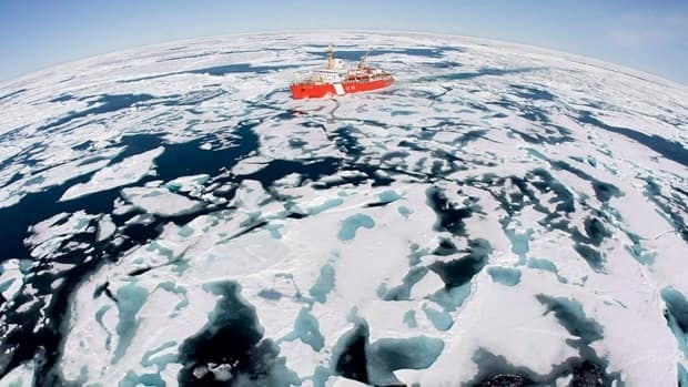 The Canadian Coast Guard icebreaker Louis S. St-Laurent makes its way through the ice in Baffin Bay, Thursday, July 10, 2008. A new international study has concluded that Canada's Arctic coastline is eroding, on average, faster than anywhere else in the circumpolar world.