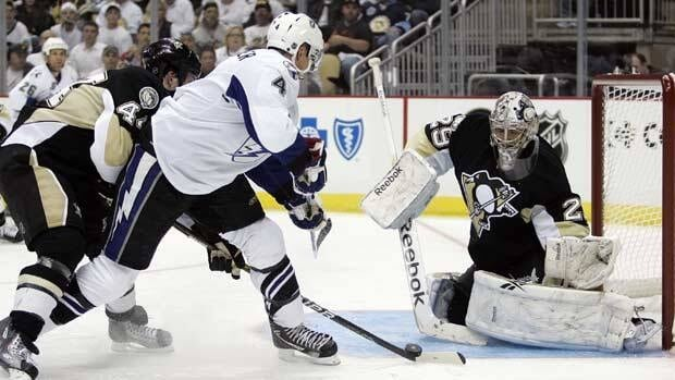 Marc-Andre Fleury of Pittsburgh earned his fifth career playoff shutout in Game 1 on Wednesday against Tampa Bay.