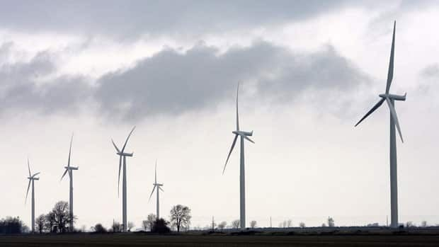 Wind turbines are shown near Port Alma, Ont., near the shores of Lake Erie. CBC News has documented scores of families who've discovered their property values are going downward.