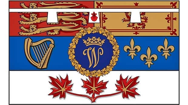 The personal flag of Prince William for use in Canada was released Wednesday by the Governor General, a day before William and his wife, Kate, visit.