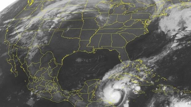 Hurricane Rina has maximum sustained winds of about 165 km/h, with higher gusts.