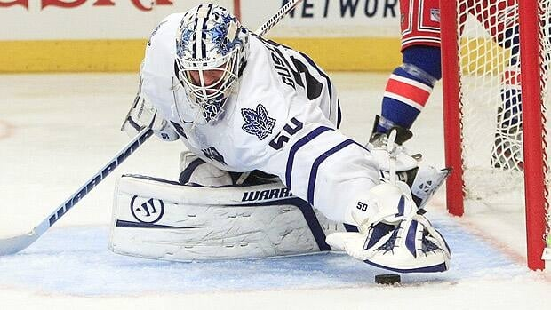 When not diagnosing concussions, Toronto goalie Jonas Gustavsson has racked up two wins in his day job.