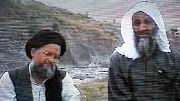 This frame grab from the Saudi-owned television network Middle East Broadcasting Center shows Osama bin Laden, right, sitting next to Ayman al-Zawahri in an undated videotape broadcast by the Dubai-based MBC on April 17, 2002.