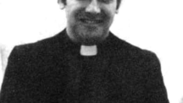 Former Catholic priest Gabe DelBianco turned himself in to the Lambton OPP on April 8 where he was arrested and charged with three counts of sexual assault, said OPP.