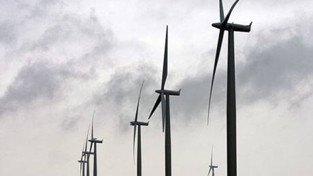 A view of wind turbines at a wind farm near Port Alma, Ont., on the shores of Lake Erie, in 2008. A project proposed for Chatham-Kent has run into opposition from some area residents. (Dave Chidley/Canadian Press)