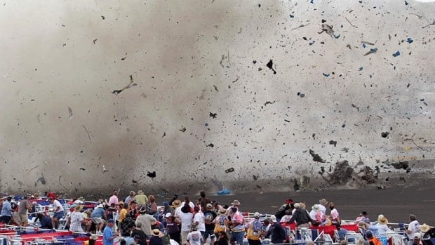 A vintage airplane crashes into the edge of the grandstands at the Reno Air show on Friday, killing nine people including the pilot. Seventeen others remain in hospital.