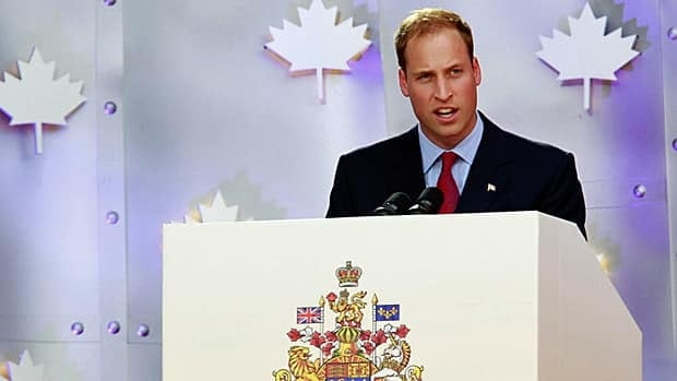 Prince William speaks during Canada Day celebrations on Parliament Hill in Ottawa on July 1, 2011.