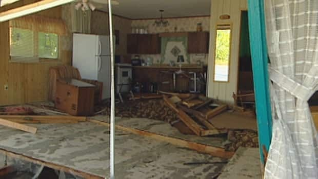 Many homes and cottages along the shores of Lake Manitoba have been severely damaged by flooding.