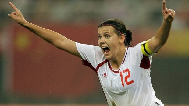 Forward Christine Sinclair is Canada's all-time leader in goals and appearances.