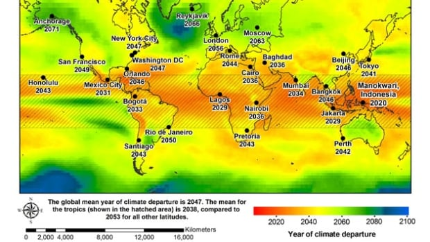 Within 35 years, even the lowest monthly dips in temperatures will be hotter than we've experienced in the past 150 years, a University of Hawaii-led study predicts.