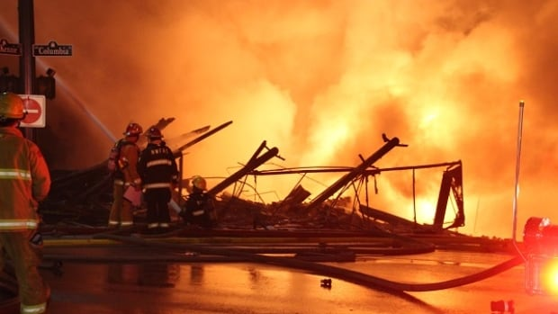 Several wedding shops were destroyed when a huge fire destroyed several buildings on New Westminster's Columbia and Front streets last month.