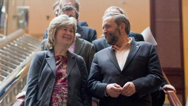 Anne McGrath, left, is returning to the federal NDP to help it prepare for the next election, expected in 2015. McGrath was chief of staff to the late Jack Layton and briefly served it the role for Tom Mulcair, right, following his leadership victory in 2012.