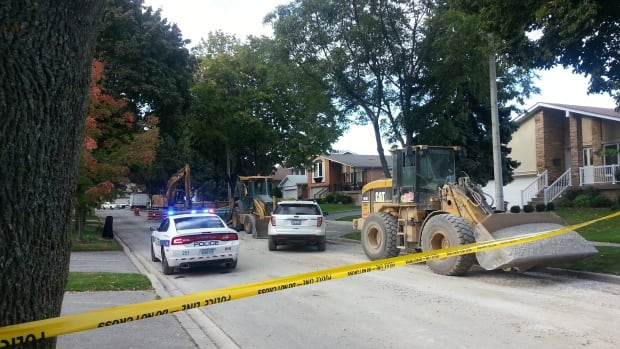 Peel Regional Police and the Ministry of Labour are investigating an apparent industrial accident that occurred on Old Pheasant Road in Mississauga, Ont., on Oct. 10, 2013.