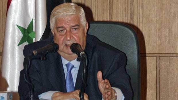 Syrian Foreign Minister Walid Moallem lashes out Wednesday at the government's critics, particularly Europe, which has imposed sanctions on the Assad regime.