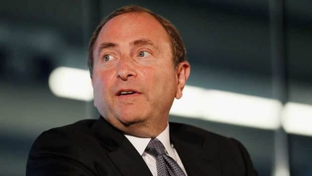 NHL Commissioner Gary Bettman was fielding questions about the Dallas Stars' potential move to a different division.