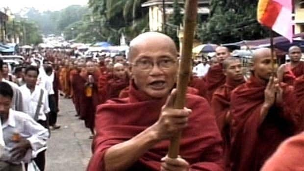 Burmese monks defied a repressive regime and led a series of pro-democracy protests in 2007. Associated Press