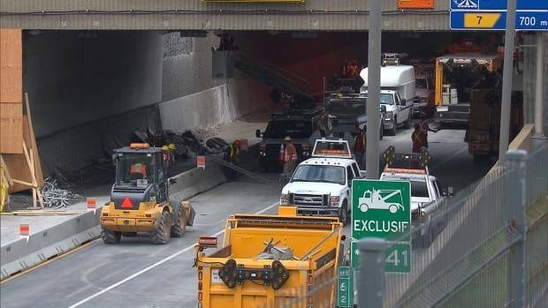 In July, 25 tonnes of concrete came crashing down in Montreal's Viger Tunnel.