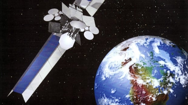A picture of Telesat's Anik F2 satellite, which is currently malfunctioning and causing major communications outages in the North.