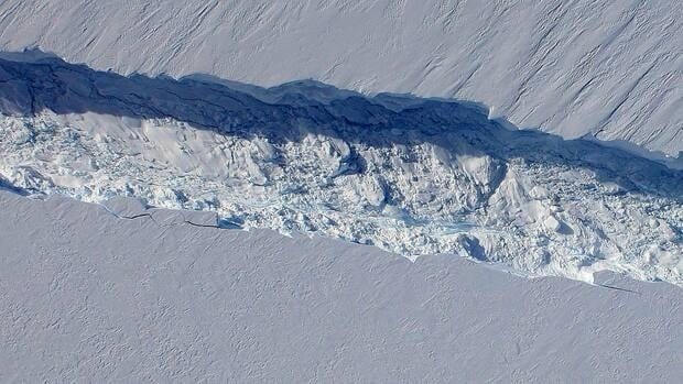 Scientists say the giant crack in the Pine Island ice shelf is widening by 1.8 metres each day.