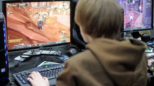 A user plays the computer game 'World of Warcraft' in Hanover, Germany, in March, 2010. Large ISPs have said a small portion of their customers, such as some online gamers, clog up the internet by using the majority of its bandwidth, which slows down everyone else's connections.