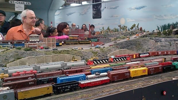 The model railway takes up 6,000 sqaure feet in the warehouse.