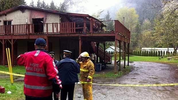 Fire officials are still investigating a house fire near Hope that left one infant dead.