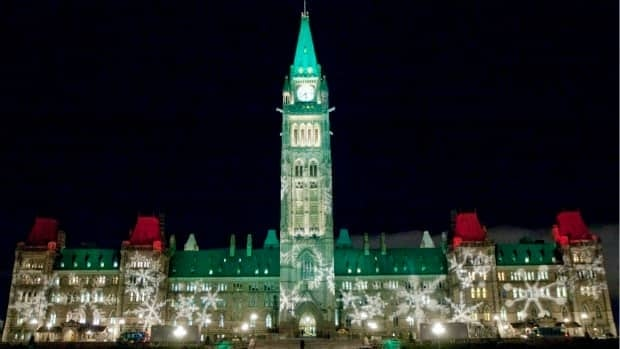 Parliament Hill now glows with festive light, as Parliamentarians count down to the Christmas break.